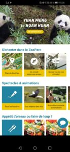 Penser à télécharger l'application zooparc de Beauval
