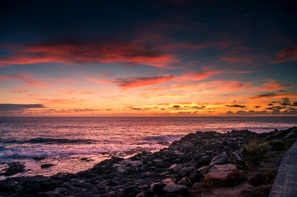 Coucher de soleil - Mer