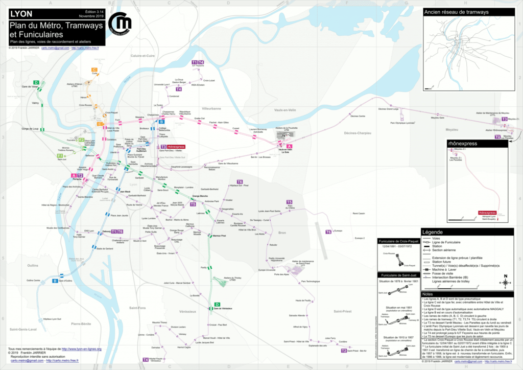 carte métro lyon