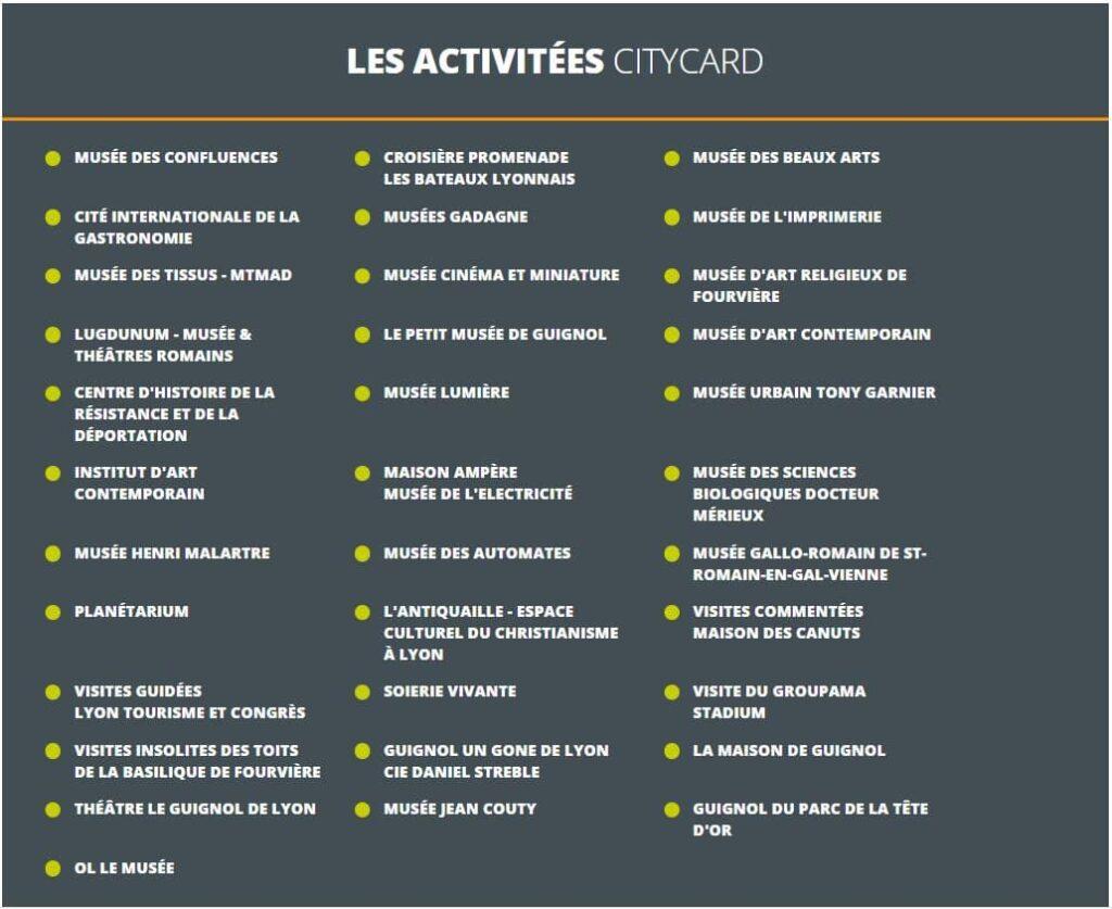 Lyon City Card - Ligne