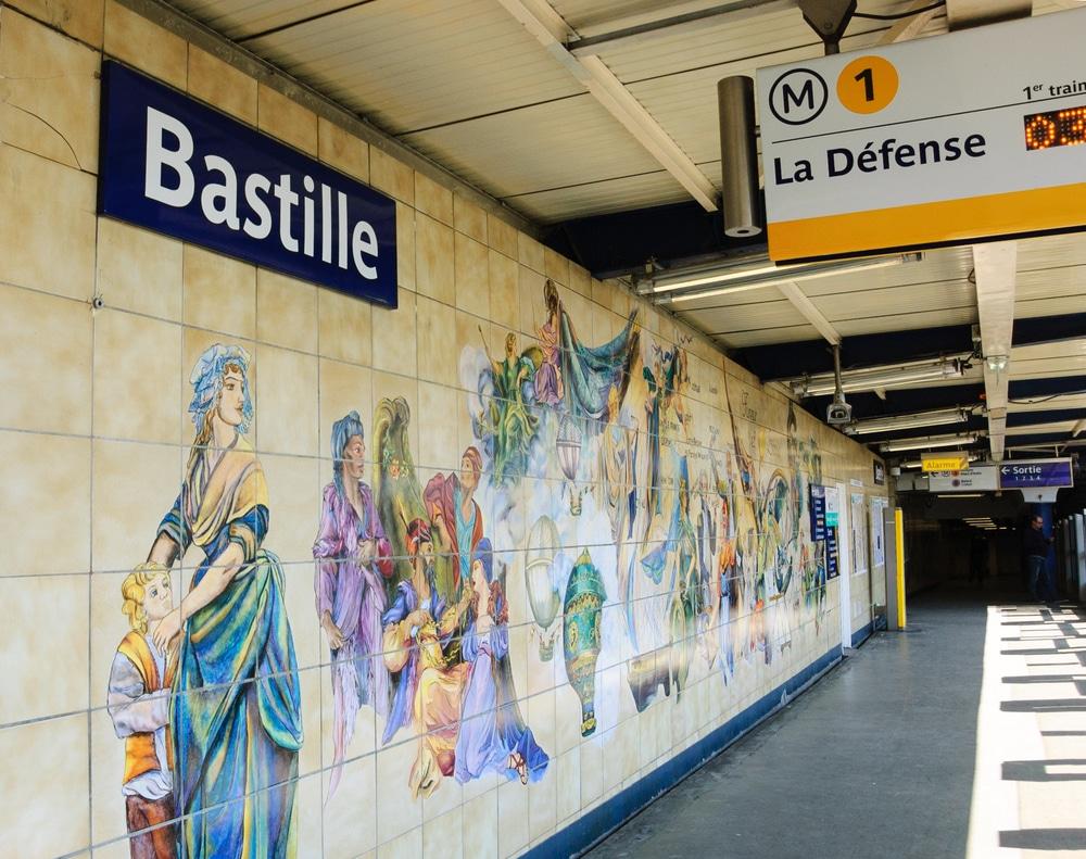 La station de la Bastille, ligne 1