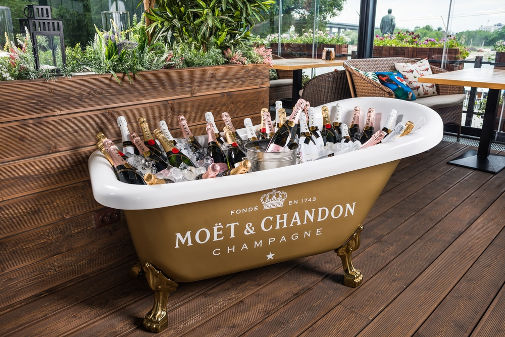 L'excellence des champagnes Moet et Chandon