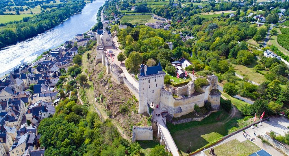La forteresse médiévale de Chinon
