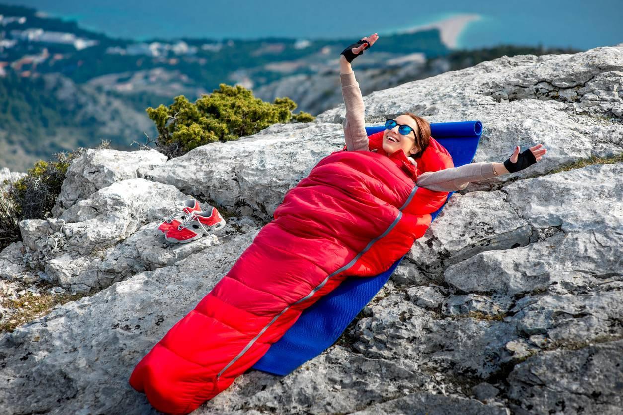 camping, prévoir un sac de couchage