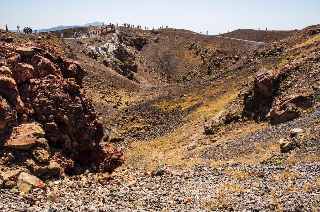 Le volcan de Santorin