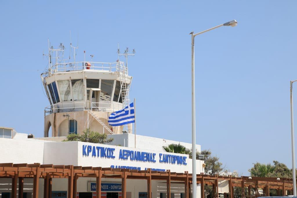 L'aéroport de Santorin