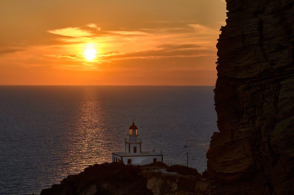 Depuis le phare d'Akrotiri